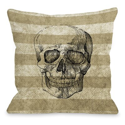 Skelly Stripe Throw Pillow Size: 16 H x 16 W x 3 D