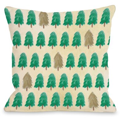 Forest for the Trees Throw Pillow Size: 18 H x 18 W x 3 D, Color: Green