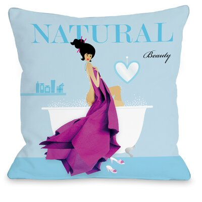 Natural Beauty Throw Pillow Size: 18 H x 18 W x 3 D