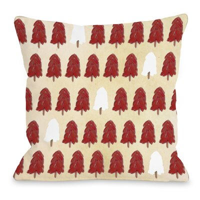 Forest for the Trees Throw Pillow Size: 16 H x 16 W x 3 D, Color: Red