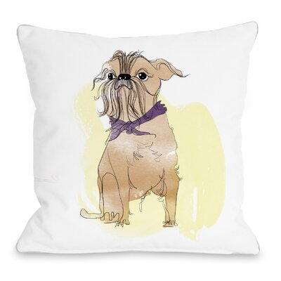 Terrier Throw Pillow Size: 16 H x 16 W x 3 D