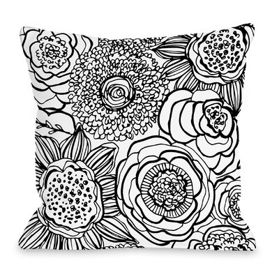Primrose Throw Pillow Size: 16 H x 16 W x 3 D