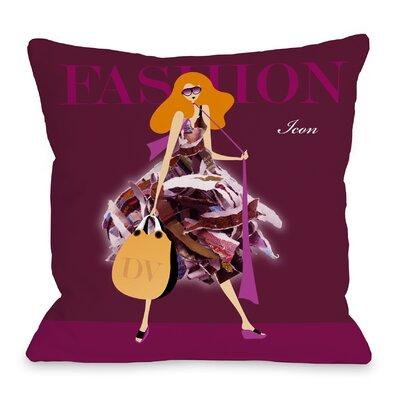 Fashion Icon Throw Pillow Size: 16 H x 16 W x 3 D