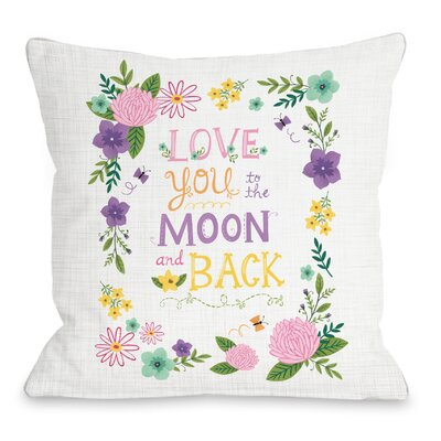 Joyous Thoughts Throw Pillow Size: 18 H x 18 W x 3 D