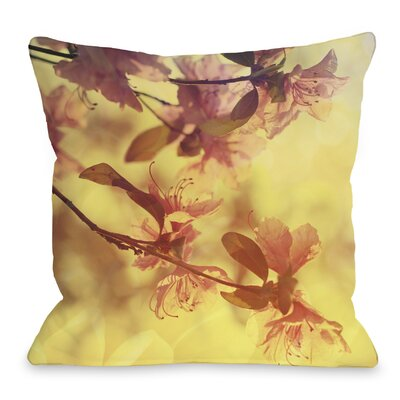 Delicate Flower Throw Pillow Size: 18 H x 18 W x 3 D