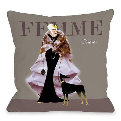 Femme Fatale Throw Pillow Size: 16 H x 16 W x 3 D