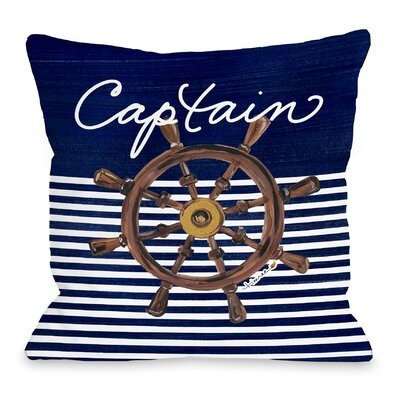 Captain Wheel Throw Pillow Size: 16 H x 16 W x 3 D