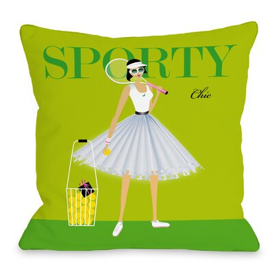 Sporty Chic Throw Pillow Size: 18 H x 18 W x 3 D
