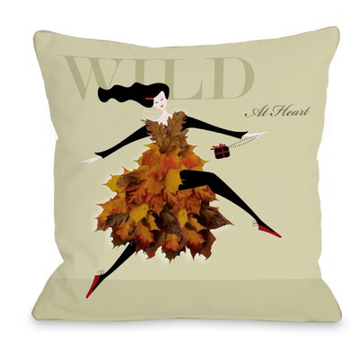 Wild At Heart Throw Pillow Size: 18 H x 18 W x 3 D