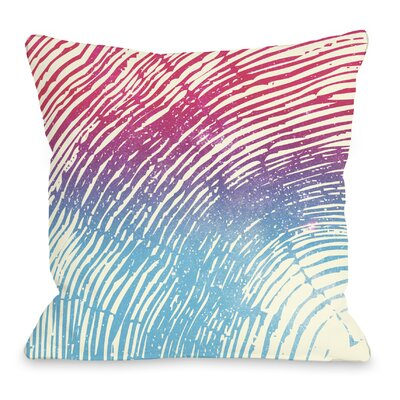 Tree Rings Throw Pillow Size: 16