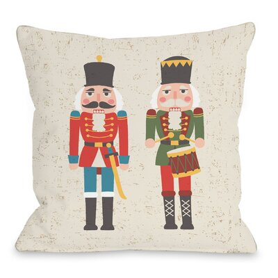 Christmas Soldiers Throw Pillow Size: 16 H x 16 W x 3 D