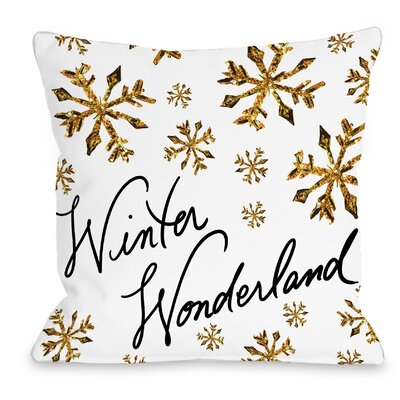 Winter Wonderland Snowflakes Throw Pillow Size: 16 H x 16 W x 3 D