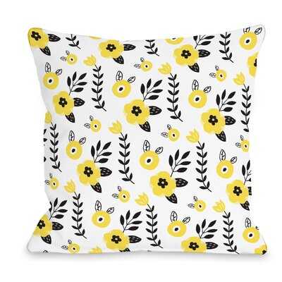 Dazzling Flowers Throw Pillow Size: 16 H x 16 W x 3 D