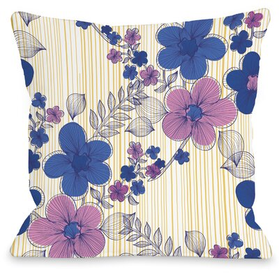 Elegant Sweep Throw Pillow Size: 16 H x 16 W x 3 D, Color: Blue Multi