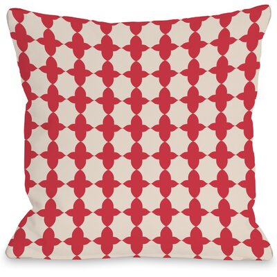 Madison Moroccan Throw Pillow Size: 18 H x 18 W x 3 D, Color: Red