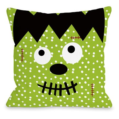 Frankenstein Dots Throw Pillow Size: 18 H x 18 W x 3 D