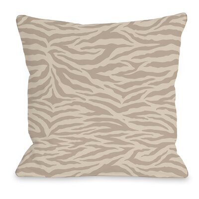 Sara Zebra Throw Pillow Size: 18 H x 18 W x 3 D