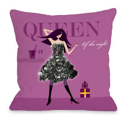 Queen of the Night Throw Pillow Size: 16 H x 16 W x 3 D