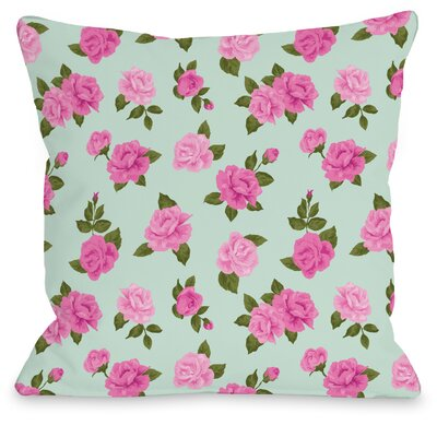 Lovely Florals Throw Pillow Size: 16 H x 16 W x 3 D