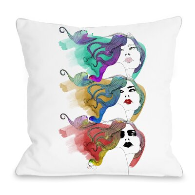 Mermaid Hair Throw Pillow Size: 16 H x 16 W x 3 D