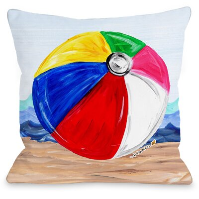 Beachball Throw Pillow Size: 18 H x 18 W x 3 D