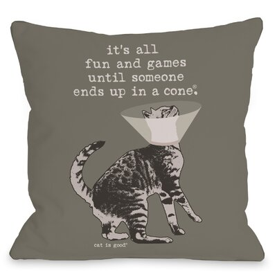 Fun and Games Throw Pillow Size: 16 H x 16 W x 3 D