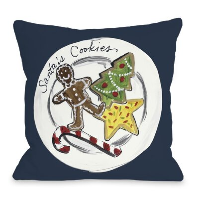 Santas Cookies Throw Pillow Size: 18 x 18