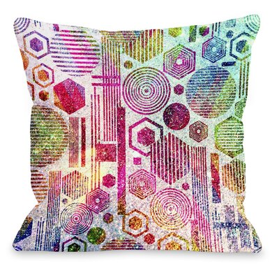 Glittered Poly Throw Pillow