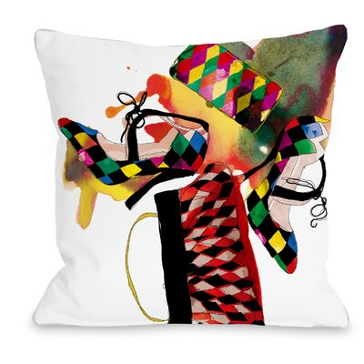 Harlequin Throw Pillow Size: 16 H x 16 W x 3 D