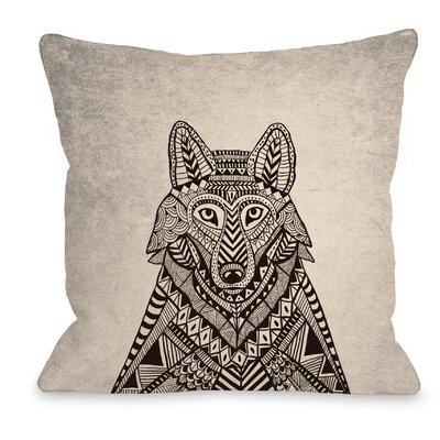 Fox Woods Throw Pillow Size: 16 H x 16 W x 3 D