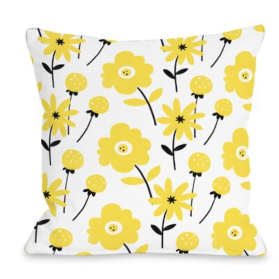 Floral Throw Pillow Size: 18 H x 18 W x 3 D