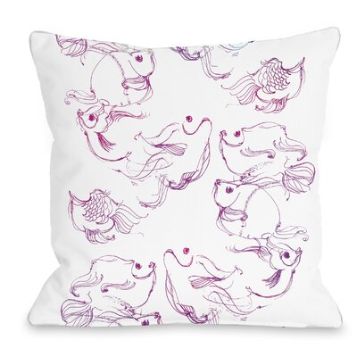 Fish Throw Pillow Size: 18 H x 18 W x 3 D