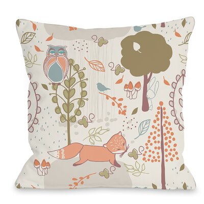 Autumn Critters Throw Pillow Size: 16 H x 16 W x 3 D