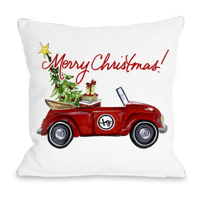 Red Bug Christmas Throw Pillow Size: 20 H x 20 W x 4 D