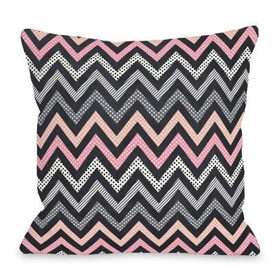 Mais Chevs Throw Pillow Size: 16 H x 16 W x 3 D, Color: Pink