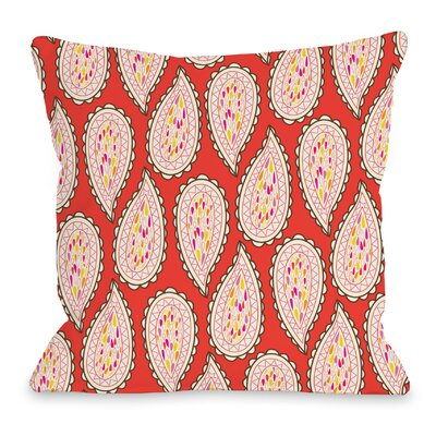 Paisley Throw Pillow Size: 16 H x 16 W x 3 D
