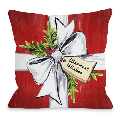 Warmest Wishes Throw Pillow Size: 18