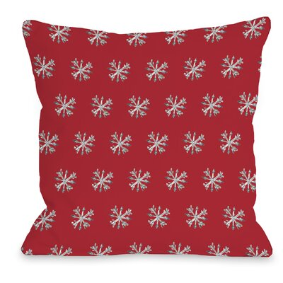 Starry Eyed Snowflakes Throw Pillow Size: 16 H x 16 W x 3 D