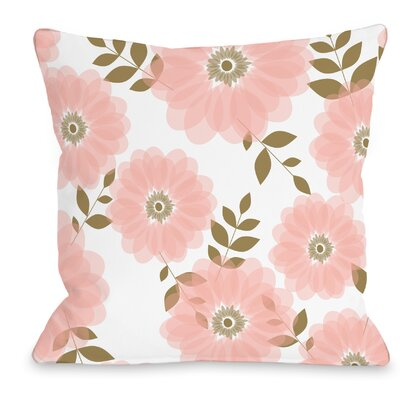 Spring Jardin 142 Throw Pillow Size: 16 H x 16 W x 3 D