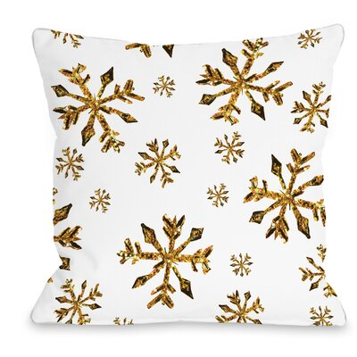 Snowflake Throw Pillow Size: 16 H x 16 W x 3 D