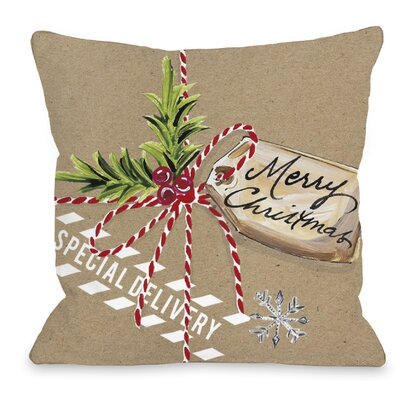 Christmas Package Throw Pillow Size: 16 H x 16 W x 3 D
