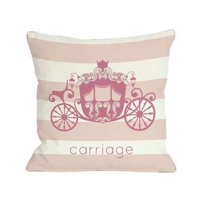 Carriage Throw Pillow Size: 26 H x 26 W