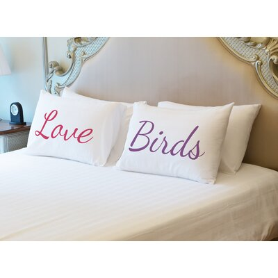Better Together 2 Piece Love Birds Pillow Case Set