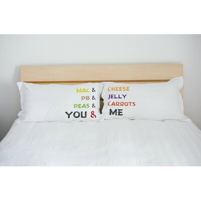 Better Together 2 Piece Go Together Pillow Case Set
