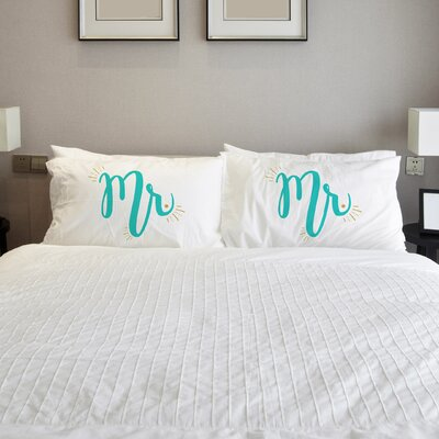 Better Together 2 Piece Mister Mister Pillow Case Set