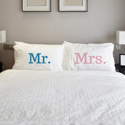 Better Together 2 Piece Mr. Mrs. Pillow Case Set