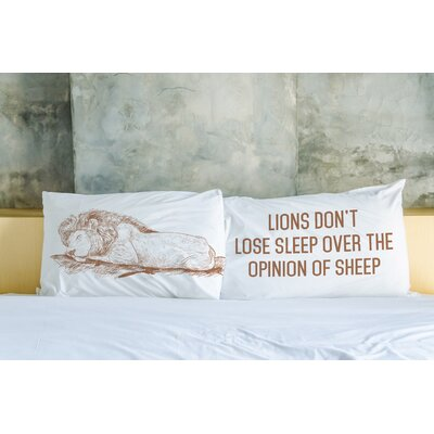 Better Together 2 Piece Lions Dont Lose Sleep Pillow Case Set