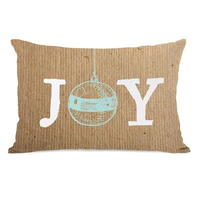 Joy Ornament Paper Lumbar Pillow