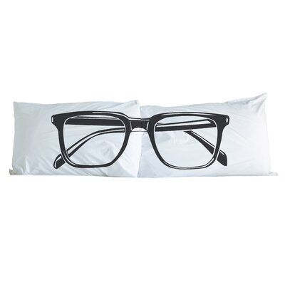 Hipster Glasses 2 Piece Pillowcase Set