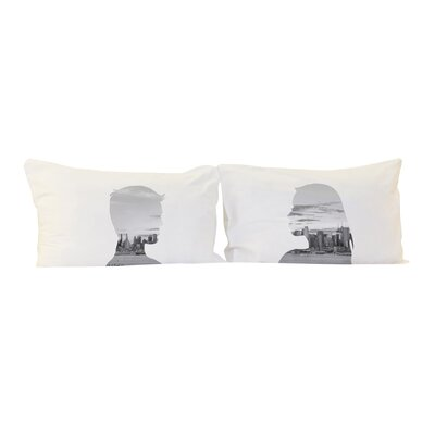 City Profiles 2 Piece Pillowcase Set Color: Grayscale